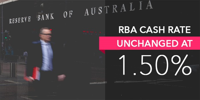 RBA CASH RATE – UNCHANGED AT 1.5%
